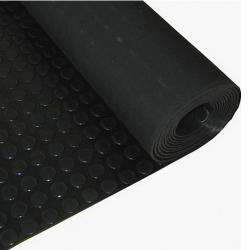 Suelo Goma Circulos 1,20x10 Metros 3 mm. de Grosor Color Negro - Imagen 1