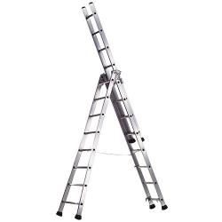 Escalera Aluminio Industrial PRONOR 3 Tramos 7 Peldaños - Imagen 1
