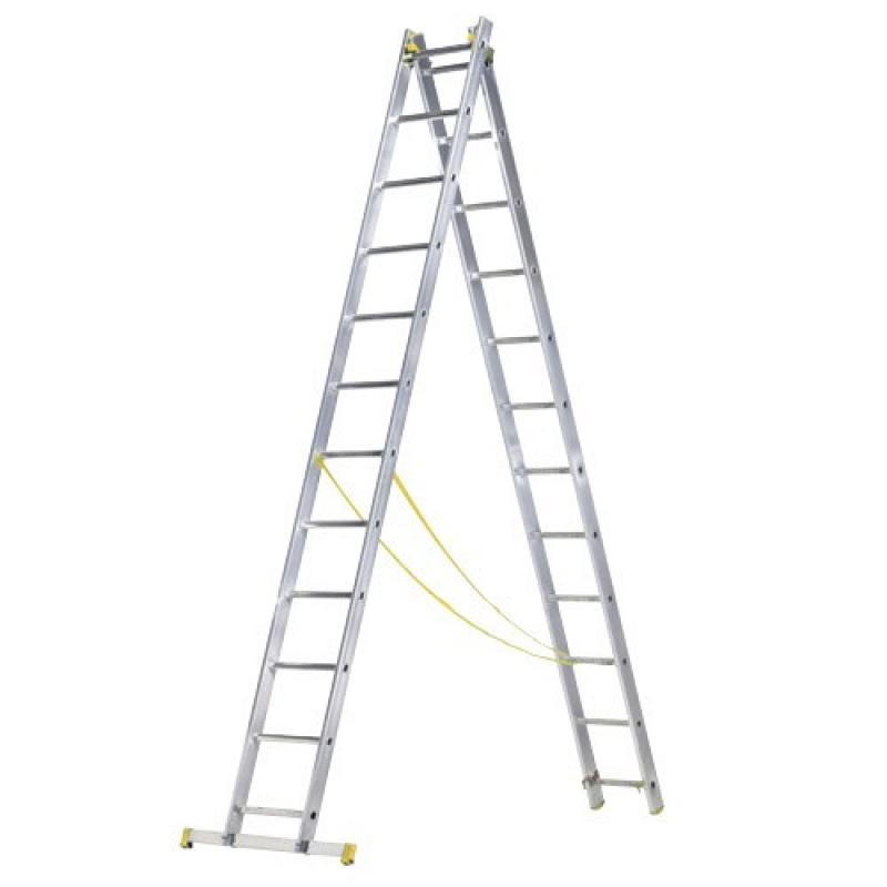 Escalera Escanor Aluminio 2 Tramos 10+10 Peldaños - Imagen 1