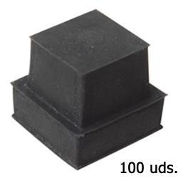 Contera Goma Cuadrada 27x27 mm. Bolsa 100 Unidades - Imagen 1