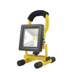 Foco Led Recargable 10 Watt. Luz Blanca 4000º K  IP 65 500 Lumenes Con Asa de Transporte - Imagen 1